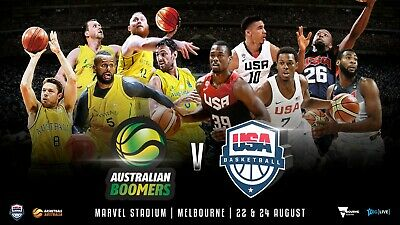 Boomers vs USA basketball 5 x MVP Package Sec B12 Melbourne 22nd Aug