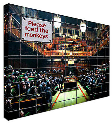 Monkey Parliament - NEW BANKSY Canvas Wall Art Picture Print