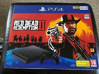 Sony PlayStation 4 500GB Red Dead Redemption 2 Console Bundle - Jet Black PS4