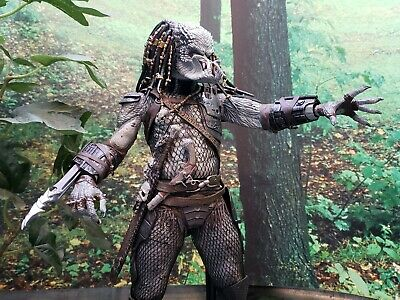 "Elder PREDATOR 2 1/4 Scale 18"" movie unmasked action figure neca"