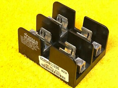 New    Gould Shawmut 60307J 30 Amp 600 Volt 2-Pole Fuse Holder Block Class J