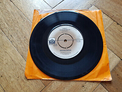 """david soul dont give up on us 7"""" vinyl record"""