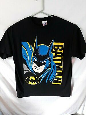 Vintage 1988 Batman t shirt size XL DC Comics great graphic & colors 80s black