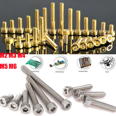 M3 Stainless Steel / Titanium Plating Gold Allen Hex Socket Cap Head Screw Bolt
