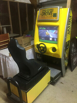 Smashing N Drive Driving -----Arcade Game !--Great For Location / Man Cave