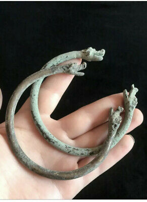 Very Old antique Pice Snakes Head Bronze Pair bangles