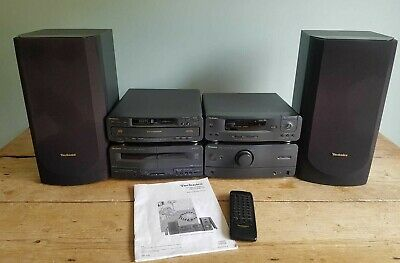 Technics Ch610 Stereo System 3 Cd Changer With Remote & Instructions Used
