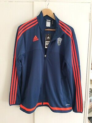 West Bromwich Albion F.C Adidas Tracksuit Top Large BNWT
