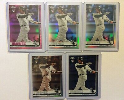 2019 Topps Chrome Eloy Jimenez RC LOT (5) Pink, Refractor, Sepia Sox Rookie #202
