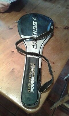 Dunlop black max Squash racket cover