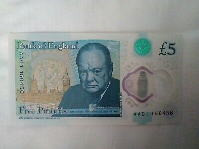 Aa01 150456 Five Pound Note