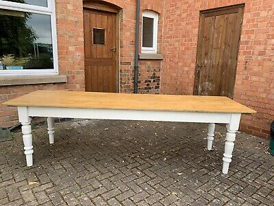 Large vintage Farmhouse Pine Dining Table. Absolutely Stunning Table, Seats 12.