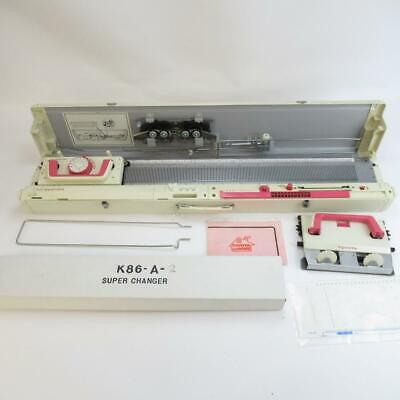 Toyota Knitting Machine with Accessories - Model No KS858, Super Changer K86-A-2