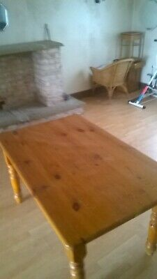 Rustic Pine Farmhouse Dining Kitchen Table, six - eight seater. Shabby Chic