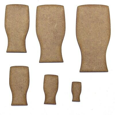 Pint Glass Craft Shape, Various Sizes, 2mm MDF Wood. Beer, Lager