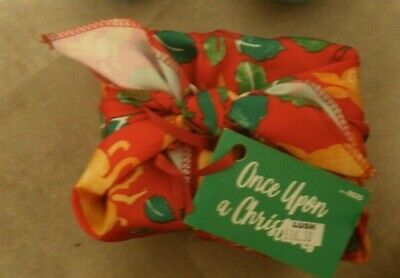 LUSH Knot Wrap Gift Set RRP £16.50 Strawberry Santa Soap & Once upon a Time Loti
