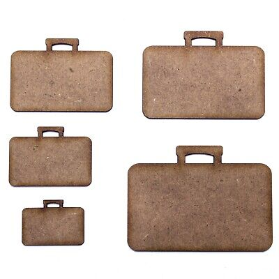 Suitcase Craft Shape, Various Sizes, 2mm MDF Wood. Briefcase, Holiday, Summer