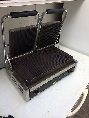 Double Panini Sandwich Grill Industrial Commercial Catering Press