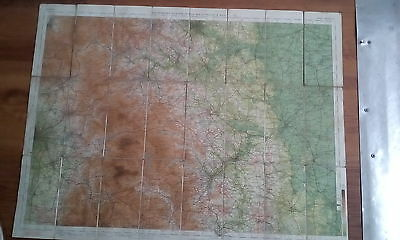 Bartholomew's peak district map circa 40/50's  mounted on cloth john Bartholomew