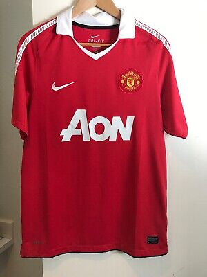 new concept d2fe5 9abcf VINTAGE MANCHESTER UNITED Authentic Nike Kit Soccer Jersey Polo Red Medium  NWOT