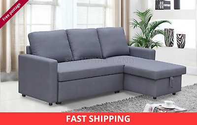 BRAND NEW SCANDINAVIAN style LARGE CORNER SOFA BED GREY ...