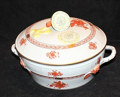 Herend Rust Chinese Bouquet Covered Vegetable