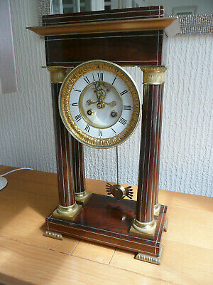 19th Century French Portico Mantel or Mantle Clock, GWO