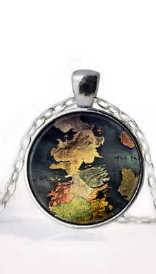 Game of Thrones Westeros Map Necklace/Pendant
