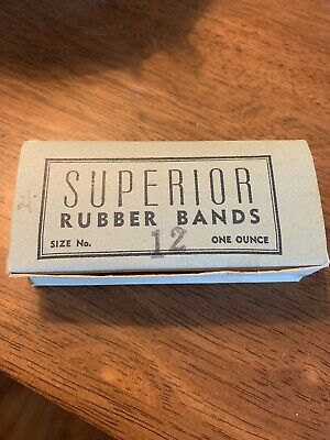 Vintage Superior Rubber Bands In Original Box