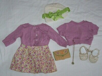 """American Girl Kit Kittredge 18"""" doll Meet outfit w/ extra accessories necklace +"""