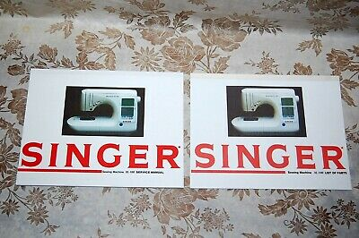 2-Book Library of Service Manuals for Singer Sewing Machines of Class XL-100