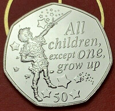 2019 PETER PAN IOM 50p Fifty Pence Coin Uncirculated - ABUNC