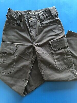 DULUTH TRADING Flex Fire Hose Ultimate Cargo Work Pants Gray Men's 32x32.