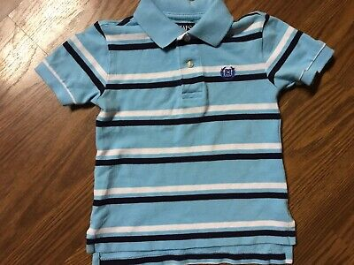 Toddler Boys Chaps Short Sleeve Polo Size 2T Blue Shirt