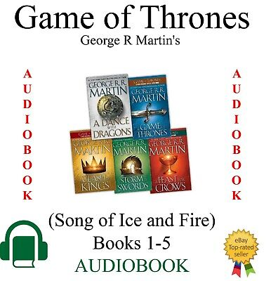 Game of Thrones - (Song of Ice and Fire) Books 1-5 (Audiobooks) only - NO CD