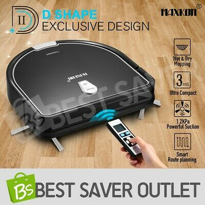 Maxkon Robotic Vacuum Cleaner Mop Automatic Carpet Floor Dry Wet Mop Cleaning