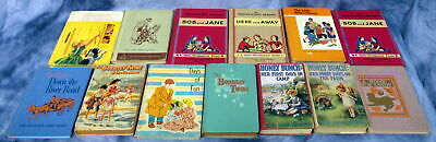 Antique Vintage Mixed Lot Of 13-Children's Books-Bobbsey Twins-Honey Bunch-Retro