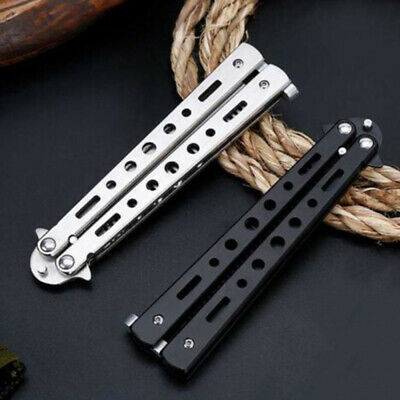 Butterfly Comb (Not Edged) Folding Tactical Practice Butterfly Knife Trainer