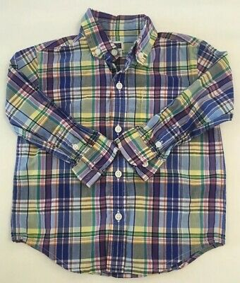 Janie & Jack Toddler Boy Shirt Plaid SIze 18-24 Months