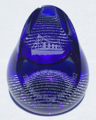 """NEW Extremely Rare Caithness """"TITANIC Maiden Voyage"""" Paperweight - LE 72/100"""