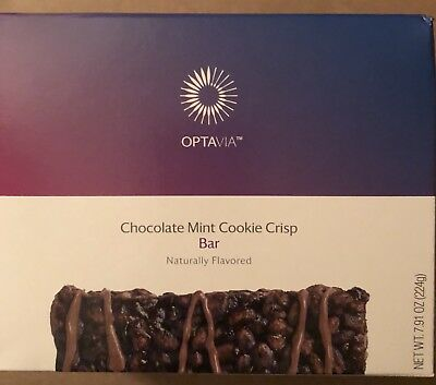 Optavia Medifast Chocolate Mint Cookie Crisp Bar - 7 Fuelings New