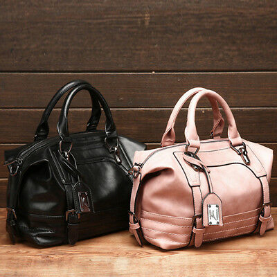 Women Faux Leather Shoulder Handbag Crossbody Bag Tote Purse Messenger Tote WL
