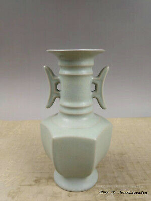 18cm China Ru Kiln Porcelain of Southern Song Dynasty Ruyi Bottle TTV