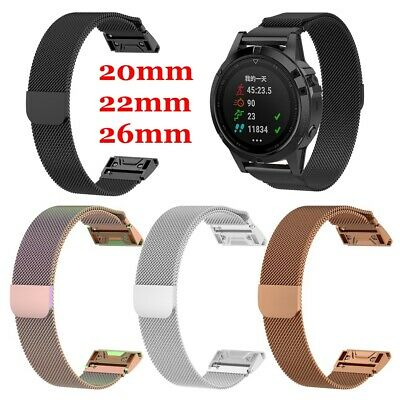 Milanese Strap Watch Band Stainless Steel For Garmin Fenix 5 / 5X / 5S plus