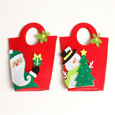 Non Woven Party Bags Christmas Candy Gift Holders Xmas Tree Ornaments Bag WL