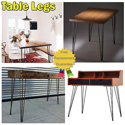 4 x Heavy Duty Hairpin Table Legs Metal For Coffee Table, Dining Table, Desk Hot