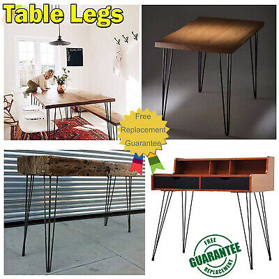Steel Hairpin Legs for Table and Furniture Heavy Duty Double Weld Table Legs Set