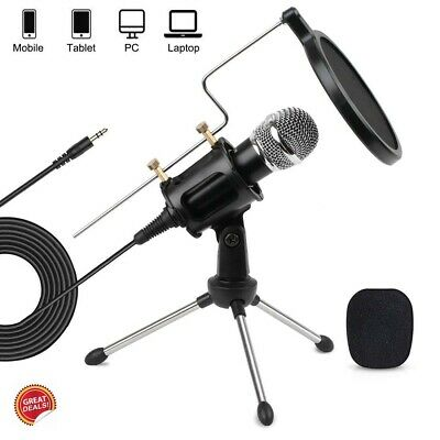 Condenser Microphone Kit Studio Bundle Professional Iphone Android Podcast Pc
