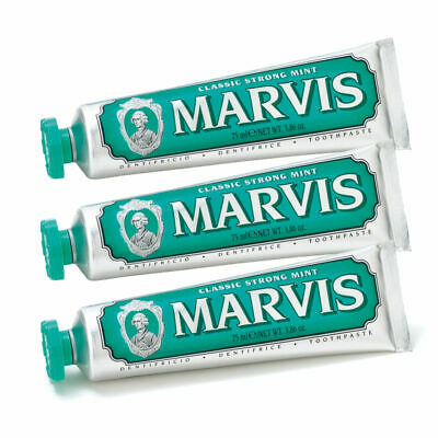 MARVIS Classic Strong Mint Toothpaste Triple Pack 3x 75ml #1282 See Description