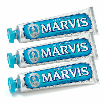 MARVIS Aquatic Mint Toothpaste Triple Pack 3x 75ml #1284 See Description